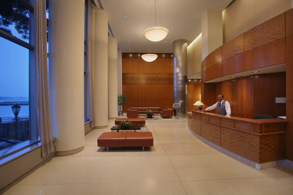 41 River Terrace: the Lobby