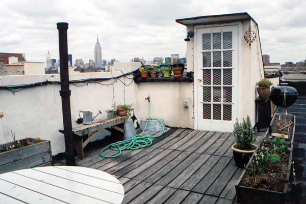 635 East 9th street: Private Deck