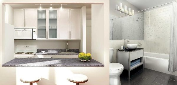 The Elektra: Kitchen and Bathroom