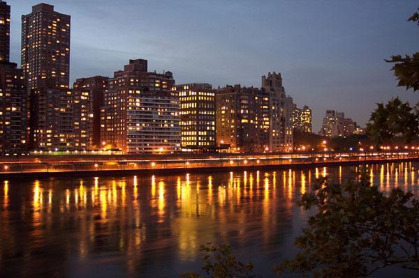 Night view on Manhattan