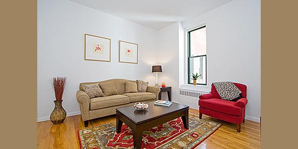 The Astor: Model Living Room