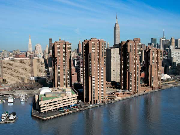 Waterside Plaza: View from East River
