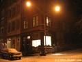 Chinatown / TriBeCa. Snowy night on White Street.
